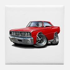 1966 Coronet Red Car Tile Coaster