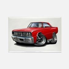 1966 Coronet Red Car Rectangle Magnet