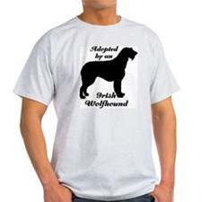 ADOPTED by Irish Wolfhound T-Shirt