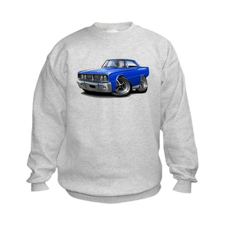 1966 Coronet Blue Car Kids Sweatshirt