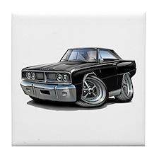1966 Coronet Black Car Tile Coaster