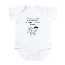 obstetrician joke Infant Bodysuit