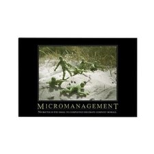 Micromanagement Rectangle Magnet