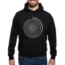 Pi Spiral (white) Hoodie