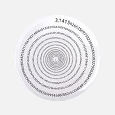 """Pi Spiral 3.5"""" Button"""