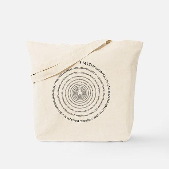 Pi Spiral Tote Bag
