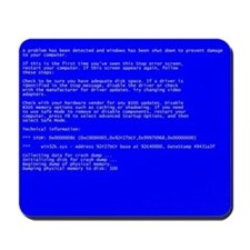 Blue Screen of Death (BSOD) Mousepad