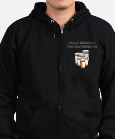 Heavily Medicated Zip Hoodie (dark)
