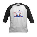 Born on July 4th Little Firec Kids Baseball Jersey