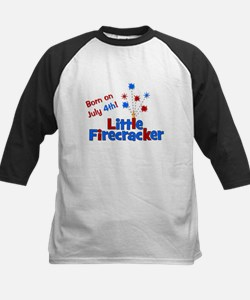 Born on July 4th Little Firec Kids Baseball Jersey