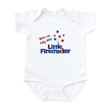 Born on July 4th Little Firec Infant Bodysuit