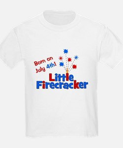 Born on July 4th Little Firec T-Shirt