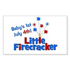 Baby's 1st July 4th! Little F Decal
