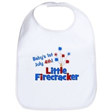 Baby's 1st July 4th! Little F Bib