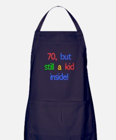 Fun 70th Birthday Humor Apron (dark)