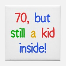 Fun 70th Birthday Humor Tile Coaster
