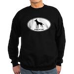 German Shepherd Euro Oval Sweatshirt (dark)