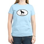 German Shepherd Euro Oval Women's Light T-Shirt