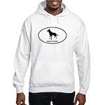 German Shepherd Euro Oval Hooded Sweatshirt