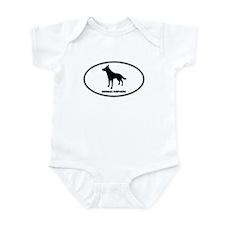 German Shepherd Euro Oval Infant Bodysuit