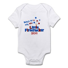 Baby's 1st July 4th! 2011 Infant Bodysuit