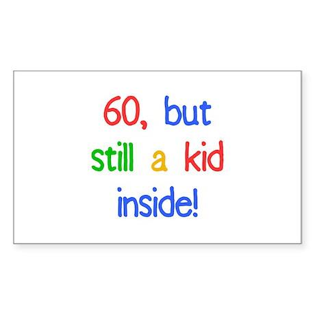 Fun 60th Birthday Humor Sticker (Rectangle)