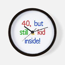 Fun 40th Birthday Humor Wall Clock