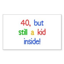 Fun 40th Birthday Humor Decal