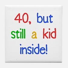 Fun 40th Birthday Humor Tile Coaster