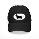 Yorkie Euro Oval Black Cap