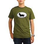 Yorkie Euro Oval Organic Men's T-Shirt (dark)