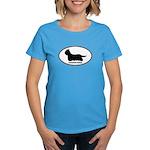 Yorkie Euro Oval Women's Dark T-Shirt