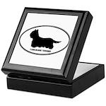 Yorkie Euro Oval Keepsake Box
