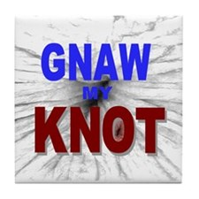 Gnaw My Knot Tile Coaster