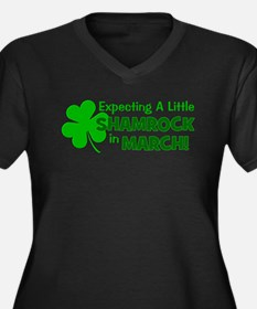 Little Shamrock March Women's Plus Size V-Neck Dar