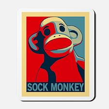 Sock Monkey Hope Mousepad