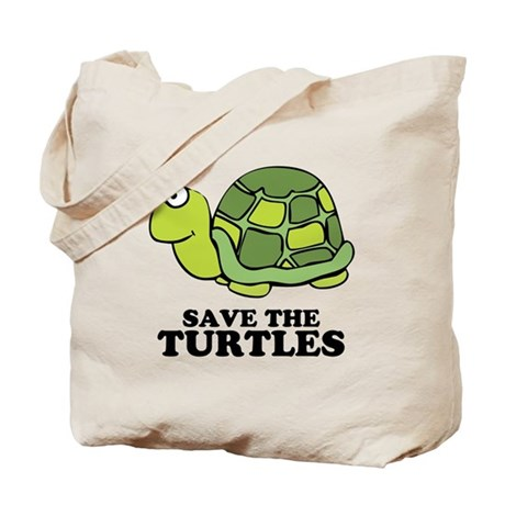 Save Turtles Tote Bag
