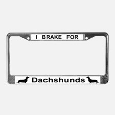 Cute Brake for dogs License Plate Frame