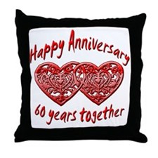 Cool 60th wedding anniversary Throw Pillow
