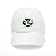 SOFTBALL *1* {green} Baseball Cap