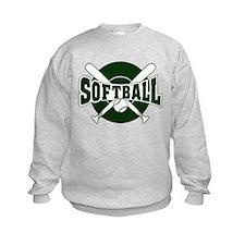 SOFTBALL *1* {green} Sweatshirt