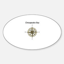 Chesapeake Compass Rose Sticker (Oval)