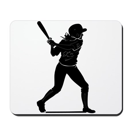 SOFTBALL PLAYER *1* Mousepad