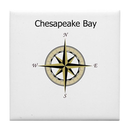 Chesapeake Compass Rose Tile Coaster