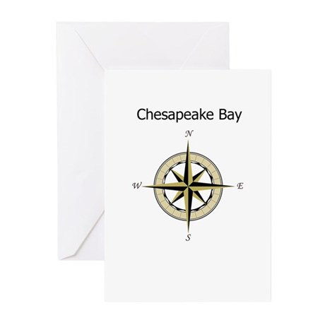 Chesapeake Compass Rose Greeting Cards (Pk of 10)