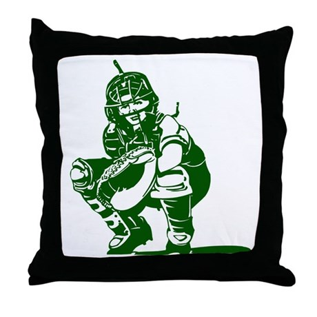 CATCHER *1* {kelly green} Throw Pillow