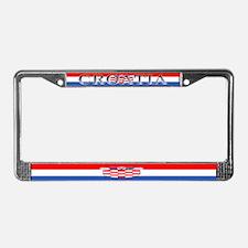 Croatia Blank Flag License Plate Frame