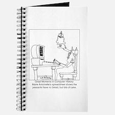 Marie Antoinette's spreadsheet Journal