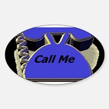 Call Me Now Oval Decal