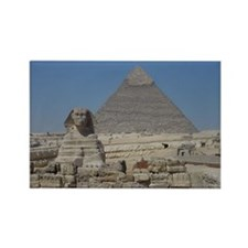 Pyramid and Sphinx Rectangle Magnet